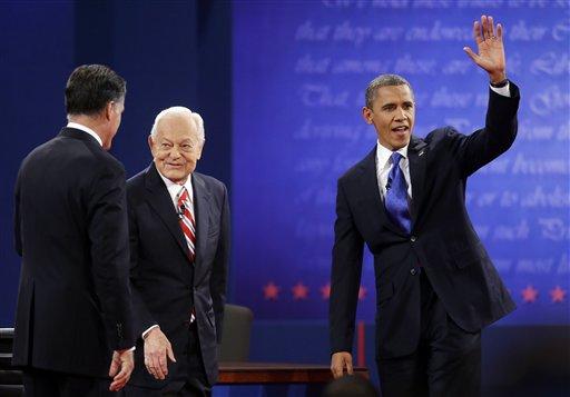 Barack Obama, Mitt Romney, Bob Schieffer