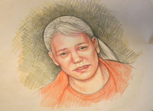 Maggie Keane sketch of Debra Milke