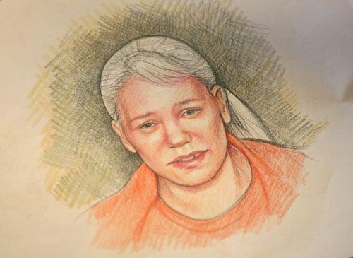 Maggie Keane sketch of Debra Milke