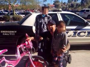Mesa officer buys kidnap victim new bike