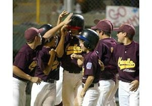 Little leaguers do homework to calm nerves