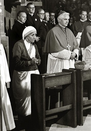 Ratzinger, Mother Teresa