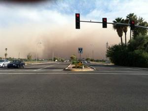 Dust storm near Arizona Avenue