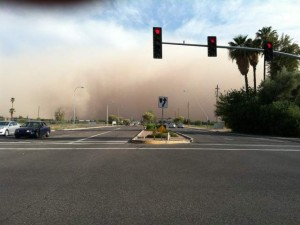 Dust storm near Arizona Avenue