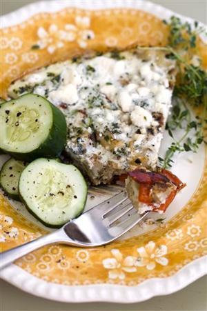Food Deadline Cauliflower Quiche