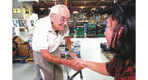 Food bank pioneer van Hengel remains on job