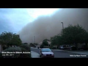 Phoenix Dust Storm 2011 - Arizona Dust Storm Monsoon July 2011 in Gilbert, Arizona | Haboob Cloud