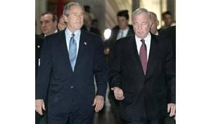 Bush defends Iraq decisions in Canada