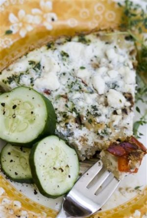 Food Deadline Cauliflower Quiche