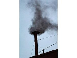 Black smoke signals no new pope elected