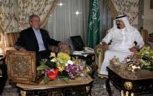 Bush turns attention to Arabs