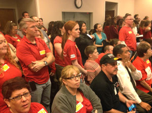Mesa teachers flood board meeting