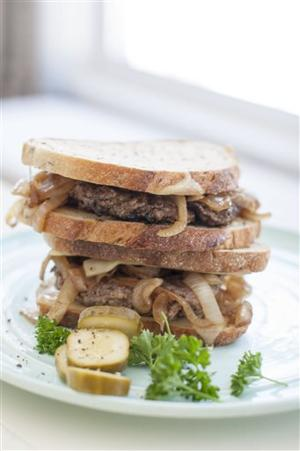 Food American Table Patty Melt