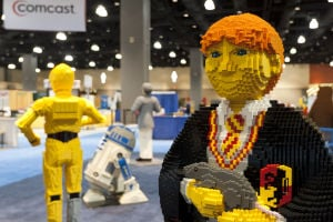 <p>Characters from your favorite television shows and movies stand side-by-side with original LEGO creations.</p>