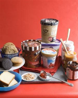 Food-Ice Cream Sandwich Buffet
