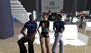 Virtual world keeps tabs on presidential election
