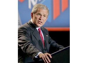Bush reminds Americans U.S. is at war