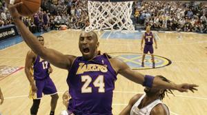 Ariza, Kobe lead Lakers past Nuggets