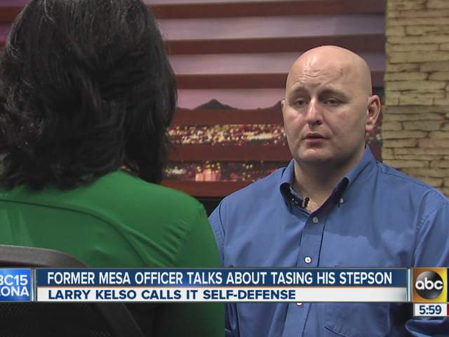 Former Mesa officer says he tased son in self-defense