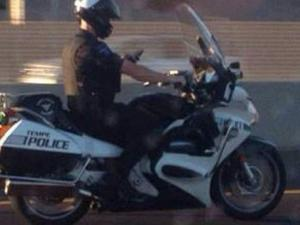 Officer texting while driving