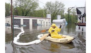 Massive flooding in New England