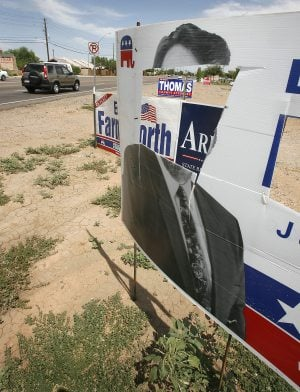 Candidates losing signs to theft, vandalism