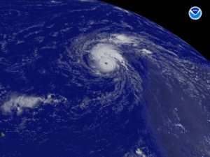 1st Atlantic season hurricane becomes Category 3