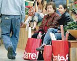 Shoppers visit malls with bargains in mind