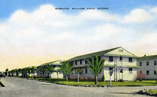 Artist's rendition of Williams Field barracks