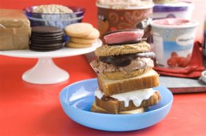 Food-Ice Cream Sandwich Buffet