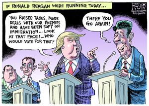 Editorial cartoon: Reagan Debate