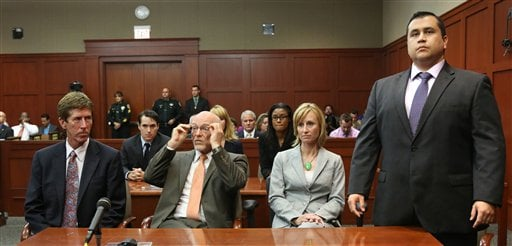 George Zimmerman, Don West, Lorna Truett, Mark O'Mara