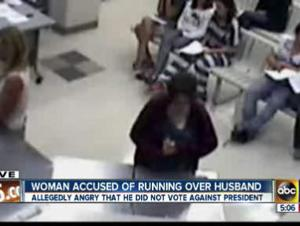 Gilbert man run over by wife for not voting against Obama