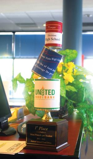 Desert Vista collects cans for United Food Bank