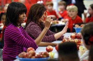 Michelle Obama, Rachel Ray
