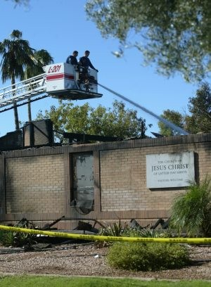 LDS church fire in Mesa ruled arson