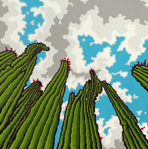 <p>Stephen Harmston of Chandler, the artist behind this 8 x 8-inch screenprint titled Heavenly Day, is among the artists you'll find at Scottsdale Arts Festival. [Stephen Harmston]</p><p></p>