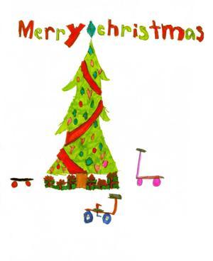 Jordyn De La Torre's holiday card art