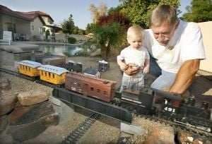 Backyard model railroads fun for residents