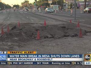 Mesa water main break