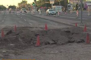 Mesa water main break