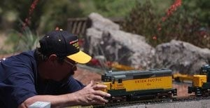 Valley model train designer seeks length record