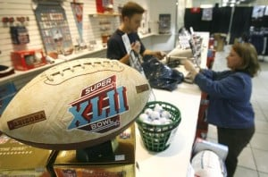 Touchdown for Super Bowl shoppers