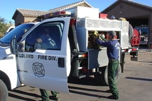 E.V. firefighters answer California's call