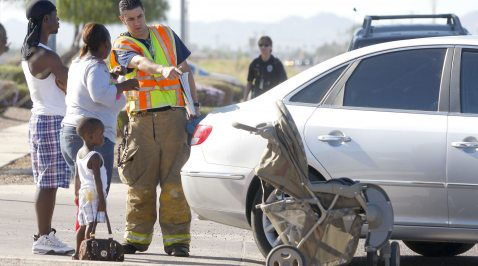 Baby struck by car near Mesa school