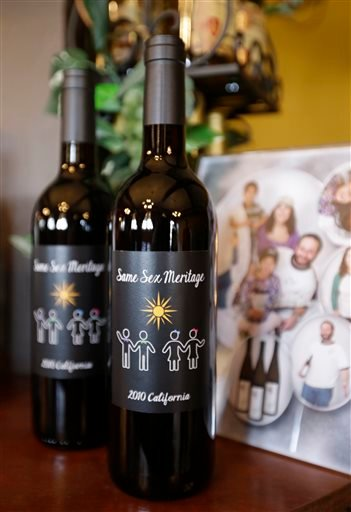 Gay Wedding Wine