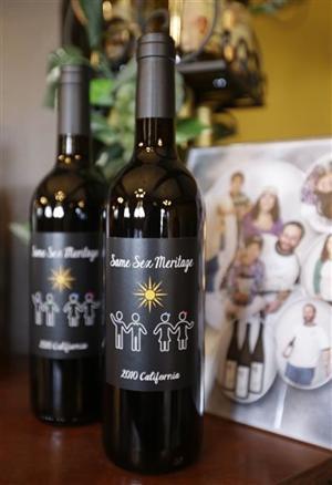Gay Wedding Wine