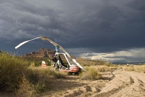 Gyrocopter forced to land NE of Mesa