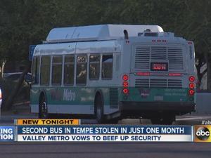 Second bus stolen in Tempe
