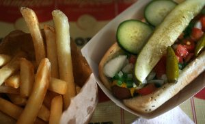 Get a taste of Chicago at anachronistic Higley Hot Dogs